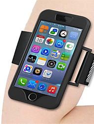 Brassard Support de Carte / Brassard Couleur unie Silikon Doux Waterproof Sport Running Arm Band Case Couverture de cas pour AppleiPhone