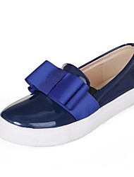 Women's Spring / Summer / Fall Platform / Comfort / Round Toe PU Office & Career / Dress / Casual Flat Heel Bowknot Blue / Nude