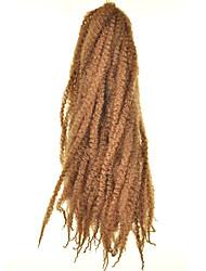 Havana / Box Tranças Afro Kinky Tranças Extensões de cabelo 18inch Kanikalon 30 costa 100g grama Tranças de cabelo