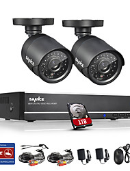 SANNCE® 4CH Full 960H CCTV DVR Video Surveillance Recorder 800TVL Cameras CCTV System Built-in 1TB