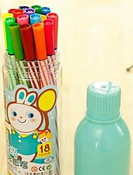 Children 24 Color Crayons Students Drift Bottle Colour Pen Paint Brush