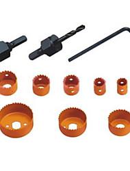 kaisi® trou de la menuiserie a vu 11 ensembles d'outils à main, matériel