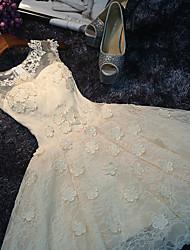Short / Mini Lace Bridesmaid Dress A-line Scoop with Appliques