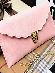 Women PU Casual Clutch / Evening Bag White / Pink / Blue / Black / Fuchsia