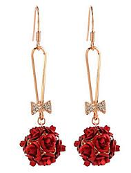 Boucle Forme de Fleur Boucles d'oreille goutte Bijoux 1pc Mode Quotidien / Décontracté Alliage Femme Doré