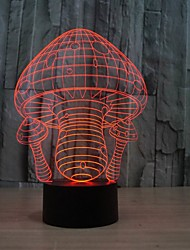 3D Mushroom Light Led Mushroom Grow Night Light for Decoration Color-Changing Night Light