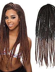 #30 Сенегал / Вязаные Спиральные плетенки Наращивание волос 24 Kanekalon 3 нитка 80g грамм косы волос