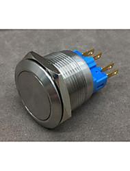 fornecimentos industriais latão cromado interruptor de botão de recuperação automática