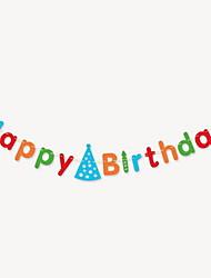 счастливый день рождения письмо баннер (случайные цвета)