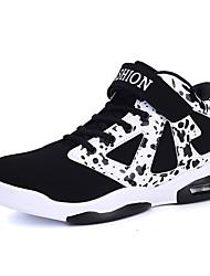 Черный / Черный и золотой-Женская обувь-Для занятий спортом-Тюль-На плоской подошве-Удобная обувь-Кроссовки