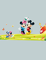 Mickey Mouse Minnie Mouse Cartoon Wall Stickers Environmental Living Room Bedroom Wall Decals