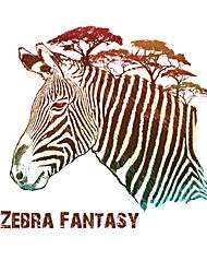 Art Zebra Fantasy Animals Pine Tree Wall Stickers Entrance Bedroom Living Room Wall Decals Environmental