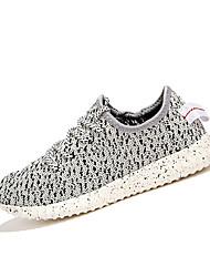 Chaussures Femme-Décontracté / Sport-Noir / Rouge / Blanc-Talon Plat-Confort / Ballerines-Sneakers-Sergé / Tissu