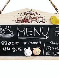 Wooden Magnetic Double-sided Small Hanging Blackboard