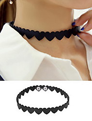 Necklace Choker Necklaces Jewelry Daily / Casual Sexy / Fashion Alloy / Lace Black-White 1pc Gift