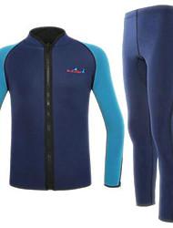 Autres Homme Combinaisons Tenue de plongée Compression Costumes humides 2.5 à 2.9 mm Noir / Bleu S / M / L / XL / XXL Plongée