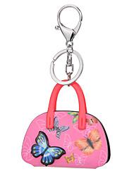 Trendy Fashion Acrylic Car Key Holder Women Handbag Butterfly Bag Keychain Charm Gifts