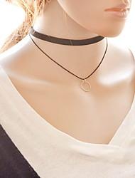 Ожерелье Ожерелья-бархатки Бижутерия Черный и белый Сплав / Кружево Повседневные 1шт