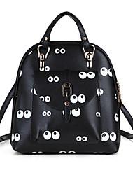 Damen Taschen Ganzjährig Kuhfell Rucksack mit für Normal Schwarz