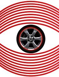комплект 6 мм красный автомобиль обод колеса светоотражающая лента полоса стикера