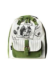 Flower Princess® Women Canvas Backpack Green-1408D00102