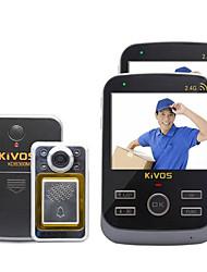 kivos intelligente drahtlose Türklingel-Türklingel ein Haushalt mit zwei Überwachung Intercom-Kamera