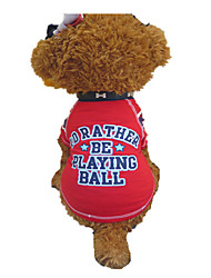 Hunde - Sommer - Baumwolle Rot - T-shirt - XS / M / L