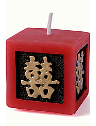 Recipient Gifts - Red Happinesses Candle Chinese DIY Wedding Party Favors