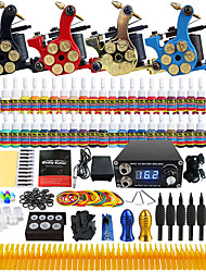 Solong Tattoo Beginner Tattoo Kit 4 Pro Machine Guns Power Supply Needle Grips Tips US Dispatch