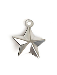 Beadia (20Pcs) 12x15mm Star Shape Stainless Steel Charm Pendant For Necklace & Bracelet Jewelry Making