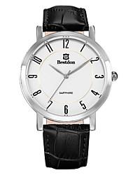 Bestdon® Fashion Vintage Leather Japanese Quartz Calendar Casual Watch Japanese Quartz Men Wristwatch