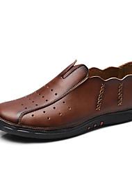 Синий / Коричневый / Хаки Мужская обувь На каждый день Кожа Оксфорды