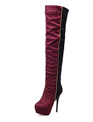 Women's Shoes Stiletto Heel Round Toe Platform Over-the-knee Boot More Color Available