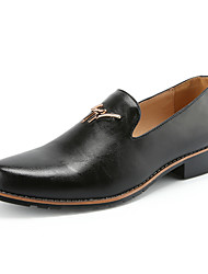 Men's Genuine Leather Shoes Slip On Oxfords Business Shoes EU 38-42