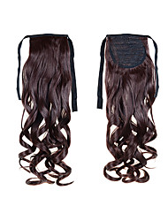 "22""(55cm) 100g Long Curly Wave Sl Ribbon Ponytails #4 Clip in Hair Extensions Ponytail Synthetic Hairpiece Accessories"