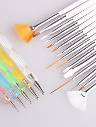15PCS Nail Art Brush Set +5PCS Nail Dotting Tool