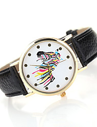 Women's Horse Case Leather Band Analog Quartz Watch Wrist Watch Fashion Watch Cool Watches Unique Watches
