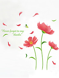 3D Wall Stickers Wall Decals Style Beautiful Galsang Flower PVC Wall Stickers