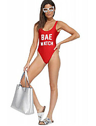 Women's Straped One-piece,Floral Nylon Red