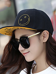 Unisex Vintage Casual Smiley Face Embroidered Baseball Cap