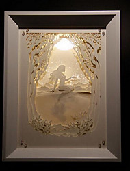 nous branchons papier créatif conduit sculpture 3d décoration sirène lumière de nuit de noël