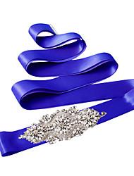 Bridal rhinestone pearl handmade belt