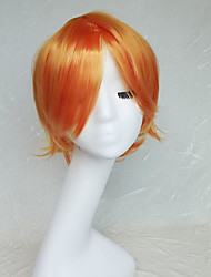 Cosplay Wig Colour Orange Anime Cartoon Characters Become Warped Wig 10 Inch