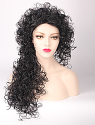 Afro Hair Jet Black Synthetic Wigs Popular Design 2016 Hot Sale