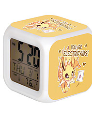 Cartoon Pet Colorful Luminous Alarm Clock-3#