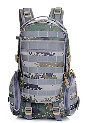 35 L sac à dos Camping & Randonnée Extérieur Multifonctionnel Noir / Marron / Camouflage Toile Other