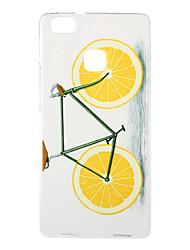 Orange Bike Pattern TPU Soft Case Phone Case for Huawei Series Model