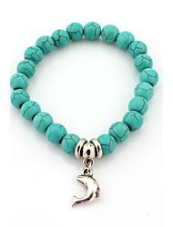 Fashionable Blue 20cm Round Strand Bracelets
