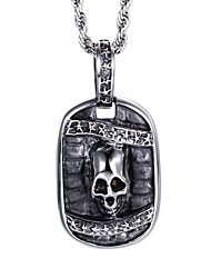 Kalen®Punk Style Jewelry Men's Stainless Steel Skeleton Pendant Necklace from China Jewelry Manufacturer