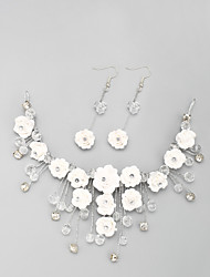 Jewelry Set Women's Wedding / Engagement Jewelry Sets Alloy / Rhinestone Crystal / Rhinestone Earrings / Tiaras White